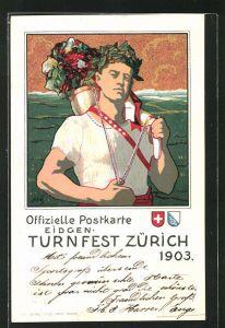 Künstler-Lithographie Zürich, Eidgen. Turnfest 1903