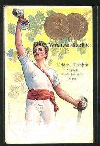 Präge-Lithographie Zürich, Eidgen. Turnfest 1903, Vaterland Nur Dir!