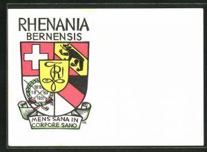 AK Bern, Rhenania Bernensis, Studentenwappen