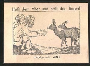 AK Helft dem Alter und helft den Tieren! - Jagdgesetz: Ja!, Naturschutz und Altersversicherung