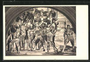 Künstler-AK Ferdinand Hodler: Marignano, Rückzug 1897-1900