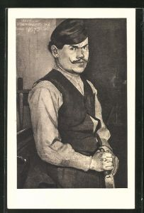 Künstler-AK Ferdinand Hodler: Schreiner, Portrait