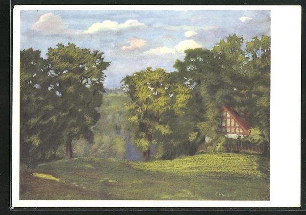 Künstler-AK Ernst Kreidolf: Landschaft bei Bern