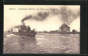 AK Malmö, Angfärjan Malmö och Strandpaviljongen