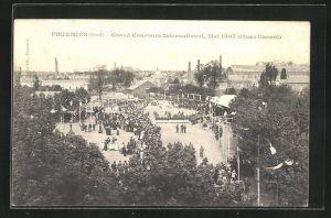 AK Fourmies, Grand Concours International 1907, Place Carnot