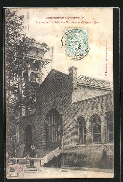 AK Montigny-en-Ostrevent, Sanatorium, Salle des Machines et Chateau d`Eau