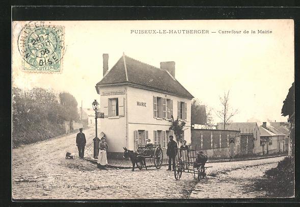 AK Puiseux-le-hautberger, carrefour de la Mairie