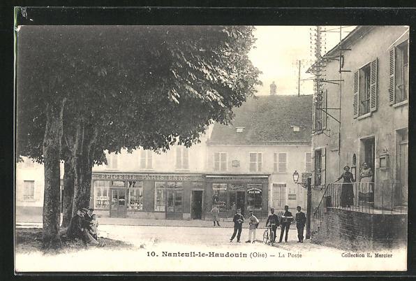 AK Nanteuil-le-Haudouin, la poste