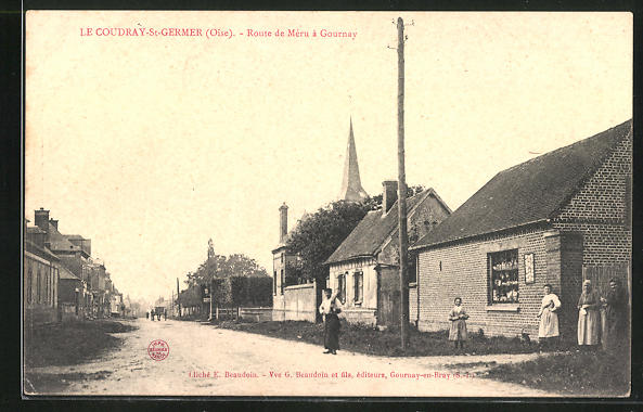 AK Le Coudray-St-Germer, route de Meru a Gournay