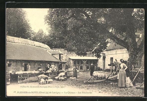 AK Plessier-de-Roye, le Chateau, les Porcheries