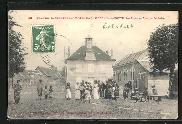 AK Mareuil-la-Motte, le place et groupe Seolaire