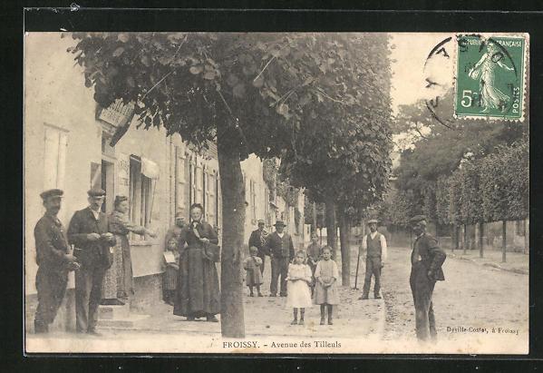 AK Froissy, Avenue des Tilleuls