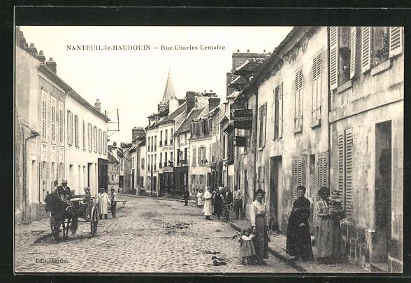 AK Nanteuil-le-Haudouin, Rue Charles Lemaire