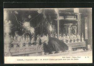 AK Creil, M. Bodin qui faillit deux fois etre fusille, 2 septembre 1914