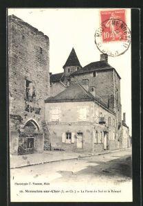AK Mennetou-sur-Cher, La Porte du Sud et le Prieuré