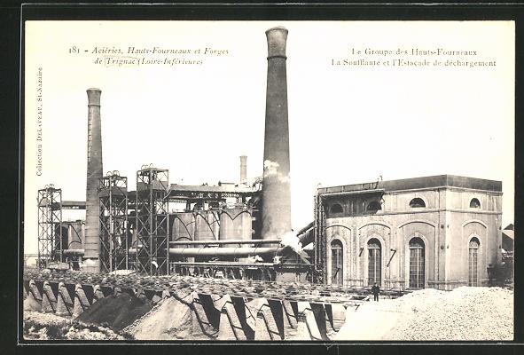 AK Trignac, Acieries, Hauts-Fourneaux et Forges, Le Groupe des Hauts-Fourneaux, La Soufflante et l`Estacade