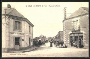 AK Joue-sur-Erdre, Rue de la Poste, Strassenpartie