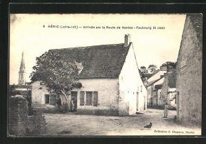 AK Heric-Faubourg St Jean, Arrivee par la Route de Nantes