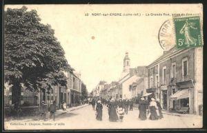 AK Nort-sur-Erdre, La Grande Rue, prise du Bas
