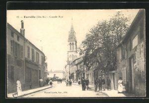 AK Eureville, Grande Rue, Strassenpartie