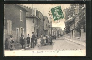 AK Eurville, La Grande-Rue, Strassenpartie