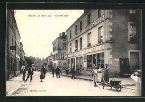 AK Eurville, Grande-Rue, Strassenpartie