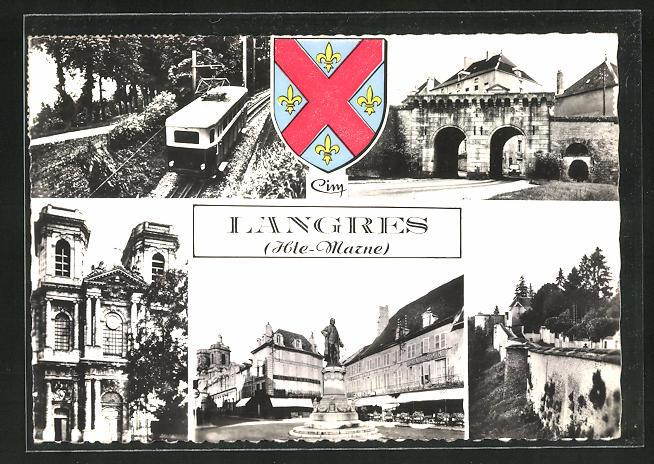 AK Langres, Bahn, Denkmal, Stadttor