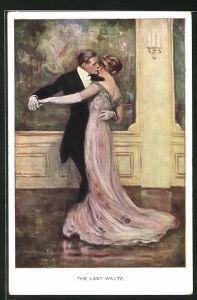 Künstler-AK Clarence F. Underwood: The Last Waltz, Der letzte Walzer, Ball, Tanz
