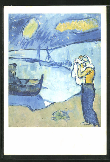 Künstler-AK sign. P. Picasso: Des Fischer`s Abschied