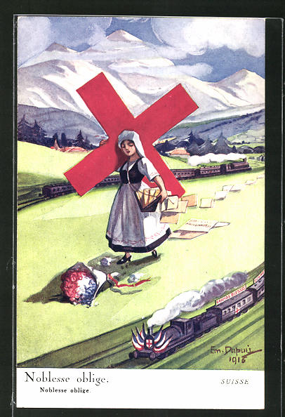 Künstler-AK Em. Dupuis: Noblesse oblige, Rotes Kreuz