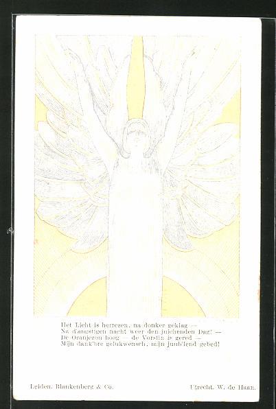 Künstler-AK Willy Sluiter: Das Licht wurde wiederbelebt, Willy, He Licht is herrezen, na donker geklag