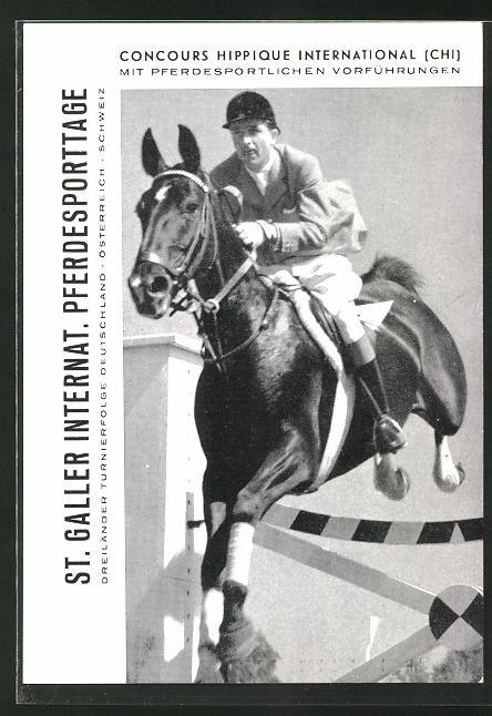 AK St. Gallen, Intern. Pferdesporttage 1957, Springreiten