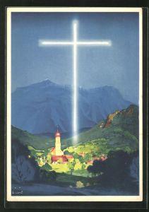 Künstler-AK Jupp Wiertz: Passionsspiele Oberammergau