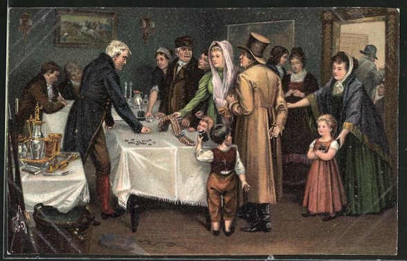 AK Befreiungskriege, Volksopfer 1813, Tauschgeschäfte