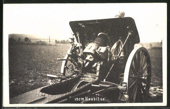 AK Schweizer 12 cm Haubitze