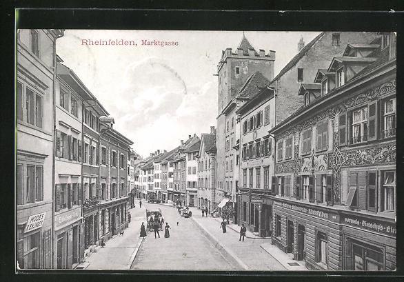 AK Rheinfelden, Blick in die Marktgasse