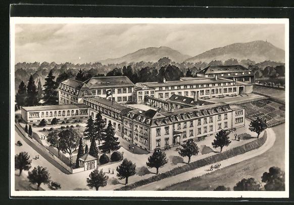 AK Rheinfelden, Ansicht vom Sanatorium
