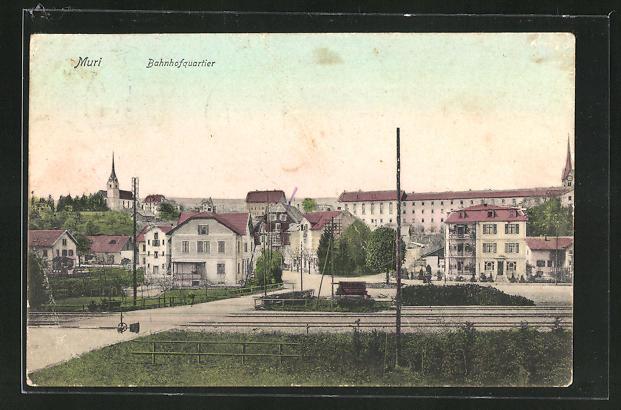 AK Muri, Blick auf das Bahnhofquartier