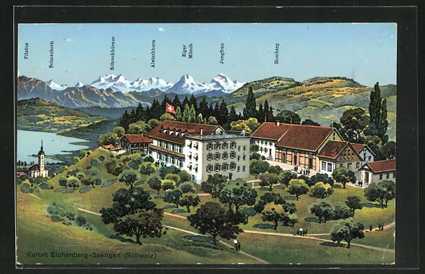 AK Eichenberg-Seengen, Hotel gegen Eiger und Mönch