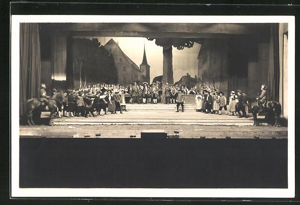 AK Reinach, Aarg. Kant. Gesangfest 1927, Festspiel: 2. Akt. Gerichtsszene