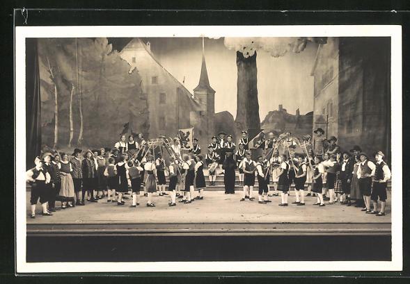 AK Reinach, Aarg. Kant. Gesangfest 1927, Festspiel: 2. Akt. Heuerreigen