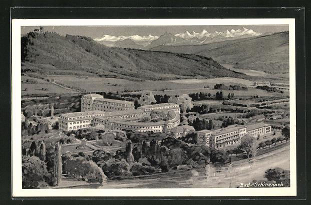 AK Bad Schinzach, Ortsansicht