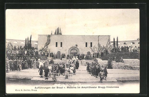 AK Brugg-Vindonissa, Aufführungen der Braut v. Messina im Amphitheater