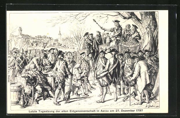 AK Aarau, Letzte Tagsatzung der alten Eidgenossenschaft 1797