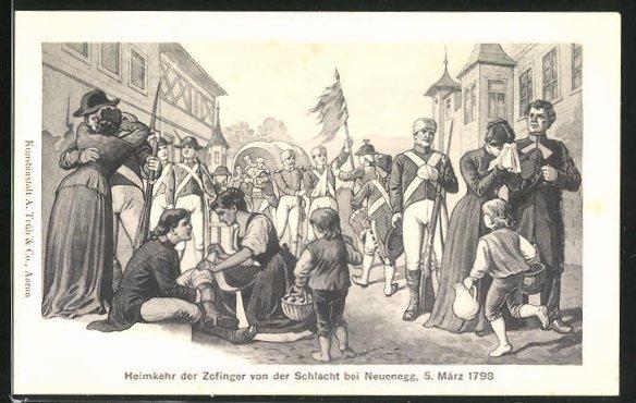 AK Zofingen, Heimkehr der Zofinger von der Schlacht bei Neuenegg 1798
