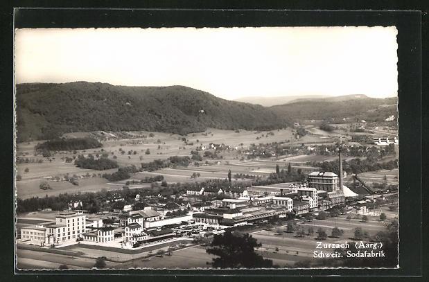 AK Zurzach, Schweiz. Sodafabrik