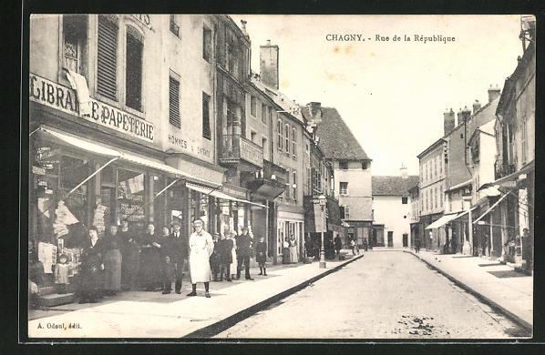 AK Chagny, Rue de la Republique