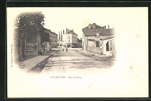 AK Le Creusot, Rue de Torcy