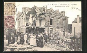 AK Mamers, Catastrophe 1904, Le Moulin de la Ville