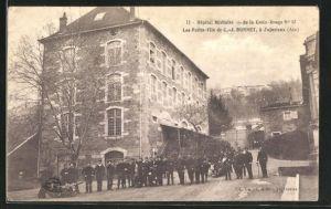 AK Jujurieux, Hotel Militaire et de la croix-rouge, les petits-fils de C.-J. Bonnet